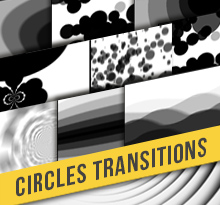 Circles transitions Pack Alpha Matte