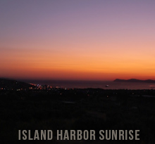 Island Sunrise Harbor Timelapse Footage Stock