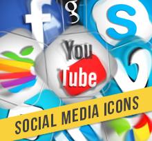 25 Social Media Icons Motion Graphics
