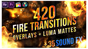 Fire Transitions Overlays